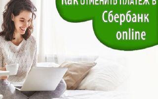 Порядок отмены платежа в Сбербанк Онлайн, если он исполнен