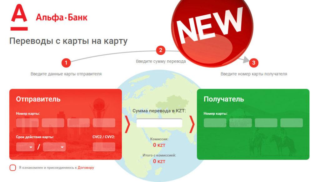 Переводы с карту на карту Альфа-банк